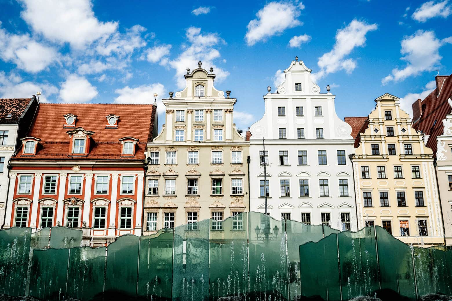 Colourful Buildings in Wroclaw's Main Square