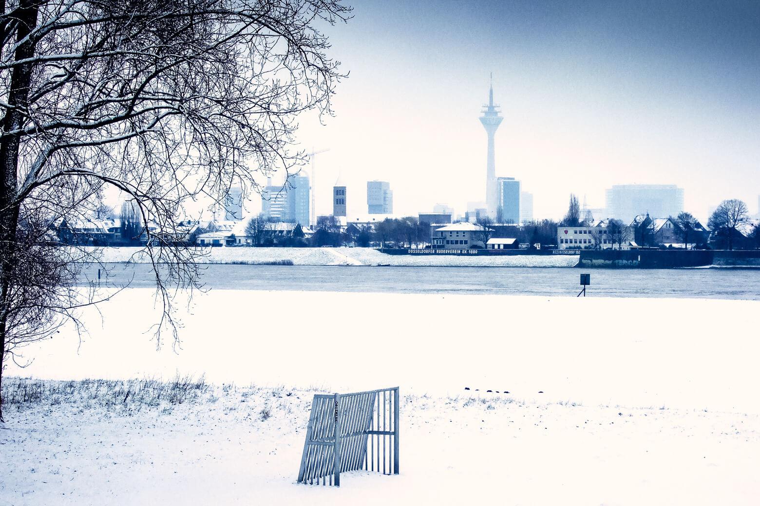Dusseldorf Germany in Winter