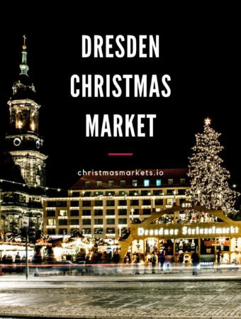 Dresden Striezelmarkt at Night