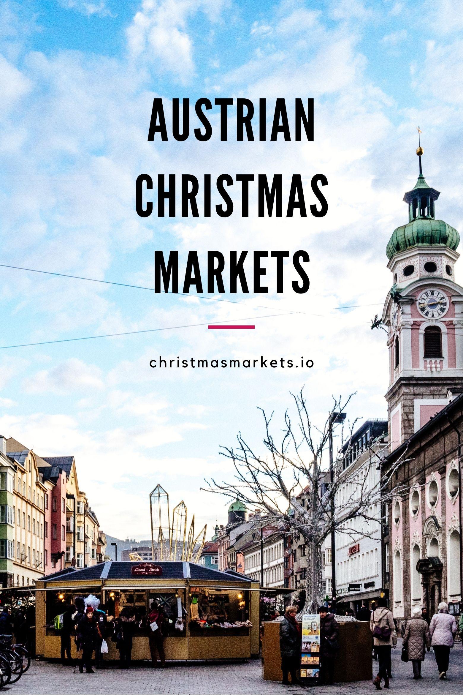 Innsbruck Christmas market on a sunny day.