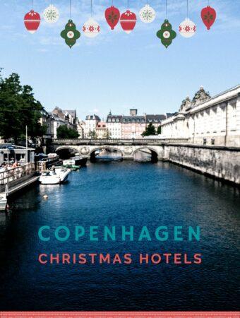 Copenhagen water and bridge with blue sky
