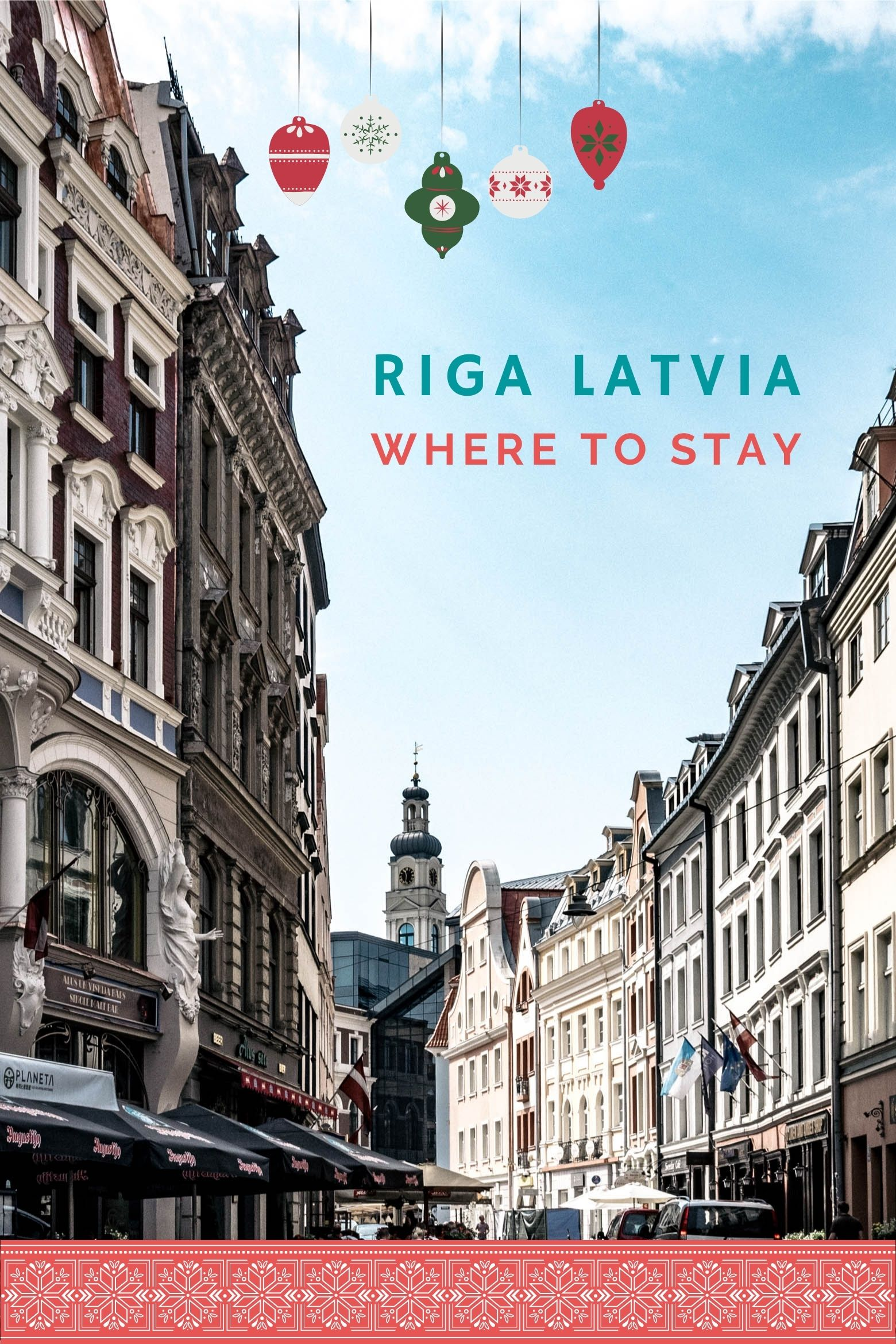 Riga Old Town with blue skies