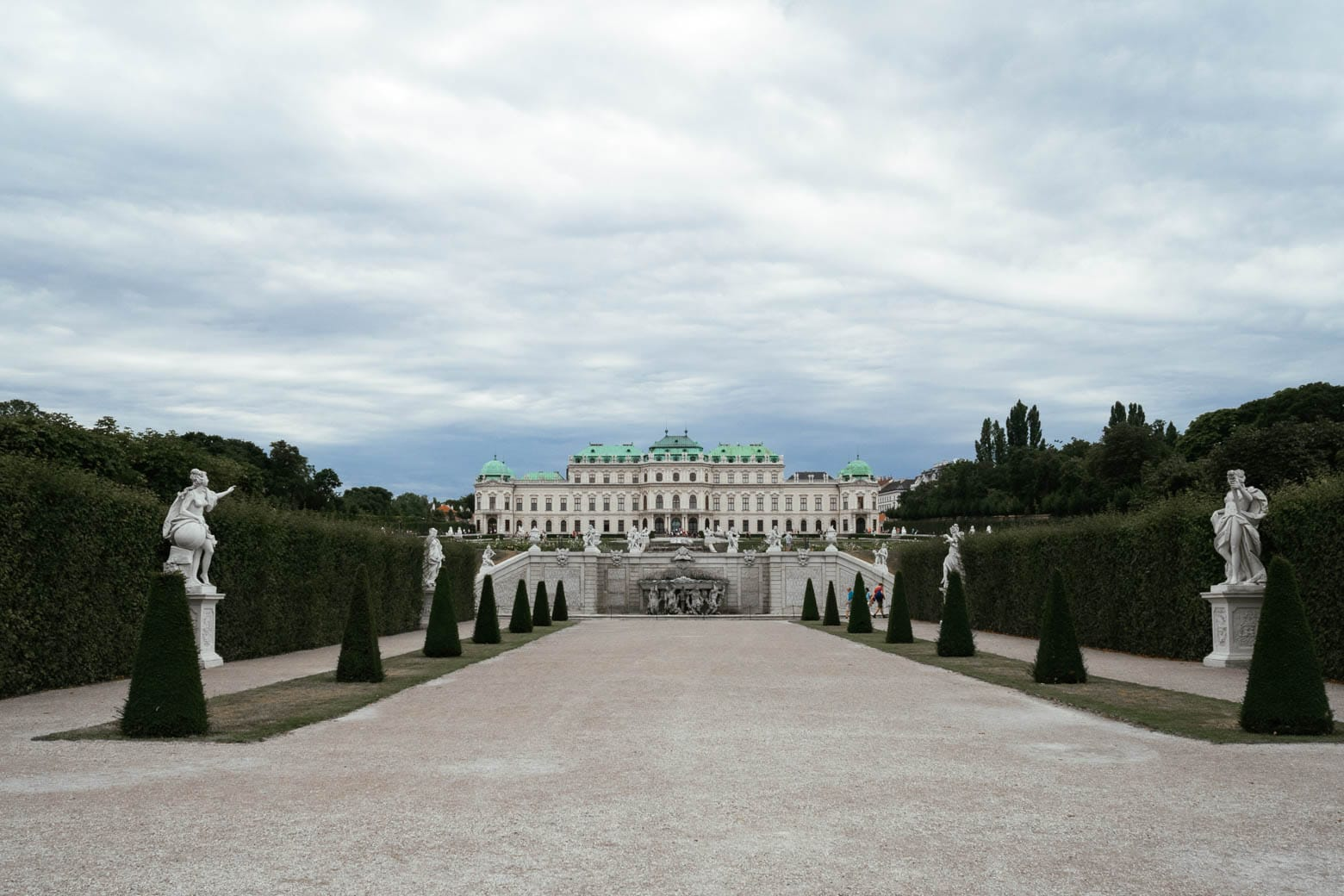 Belvedere Palace and formal gardens.